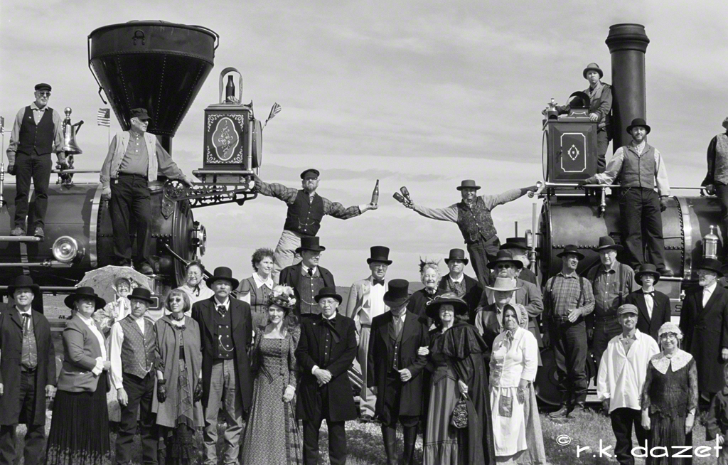 Driving of the Golden Spike, Promontory Point, Utah. May 10, 1869